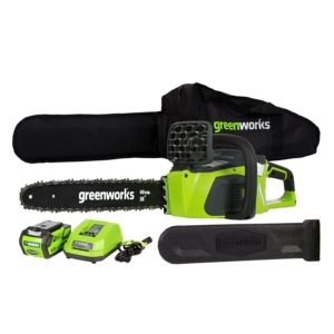 GreenWorks 20312 G-MAX 40V 16-Inch Cordless Chainsaw Review