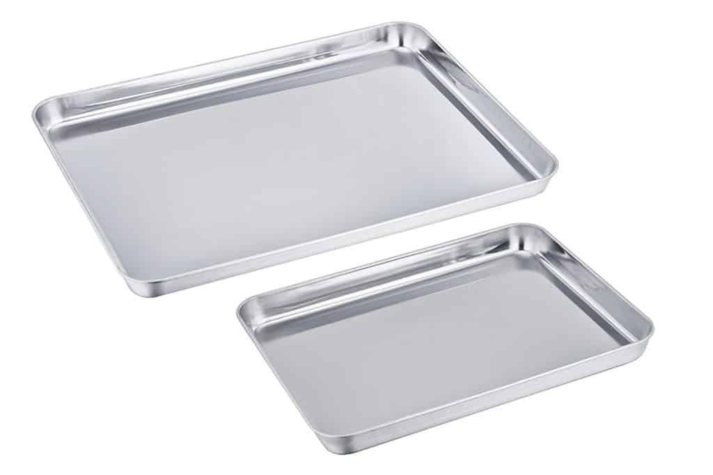 TeamFar Pure Stainless Steel Baking Sheet
