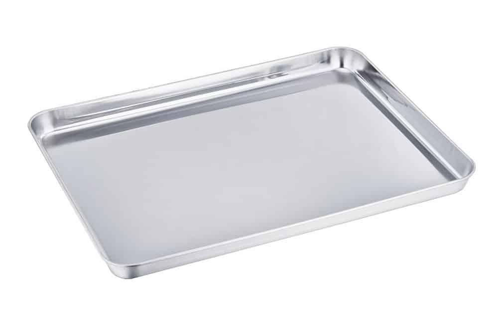 TeamFar Stainless Steel Baking Cookie Sheet - One of the Best Baking Pans made of Stainless Steel!