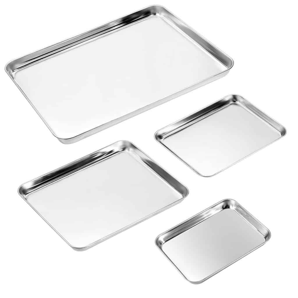 Zacfton Stainless Steel Baking Pan Cookie Sheet - Best Stainless Steel Baking Pans in India!