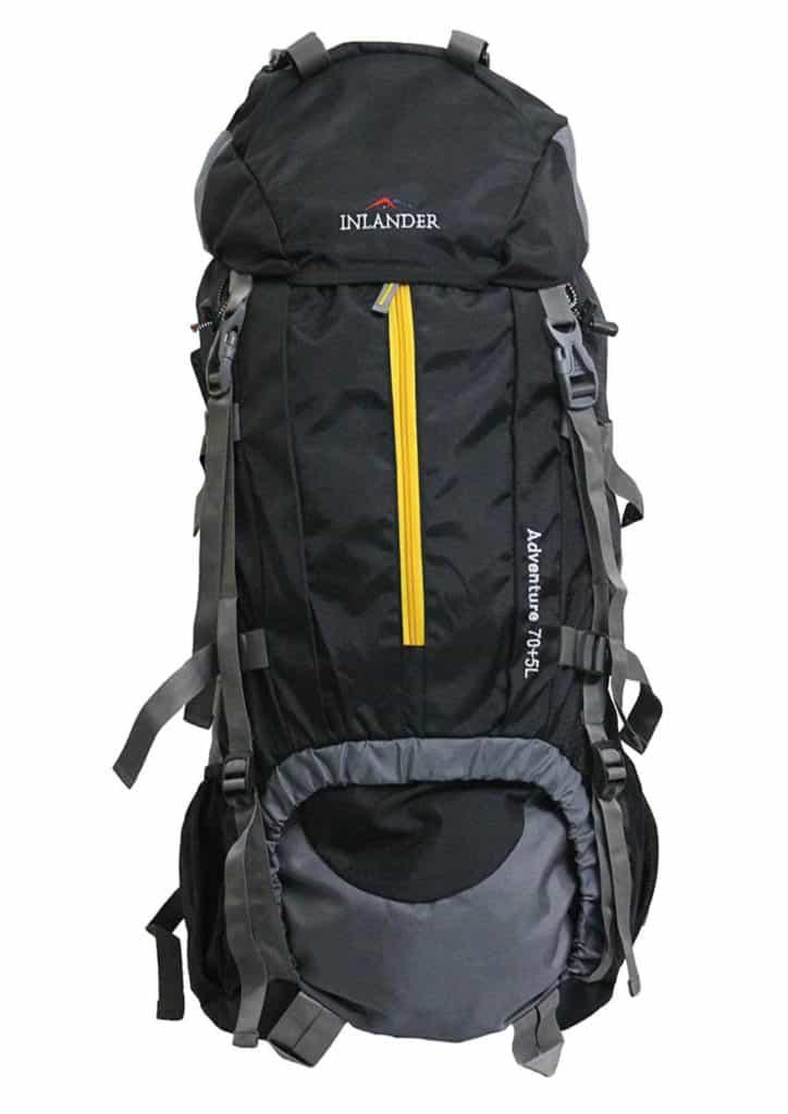Inlander 70-Ltrs Black Rucksack Review - Best Hiking Backpack in India!