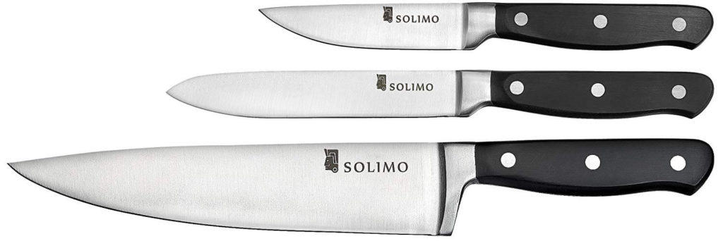Solimo Premium High-Carbon Stainless Steel Kitchen Knife Set - One of the Best Knife Sets for Indian Kitchen!