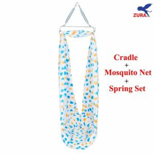 Zura Zura Baby Cradle with Mosquito Net and Spring Set